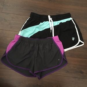 Set of 2 Running/Workout Shorts M